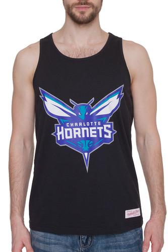 Майка MITCHELL&NESS NBA Charlotte Hornets Team Logo Tank (Black, XL) майка mitchell