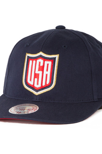 Бейсболка MITCHELL&NESS United States Team Slouch (Navy, O/S)