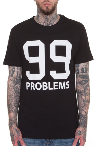 Футболка MISTER TEE 99 Problems T-Shirt (Black, 2XL)