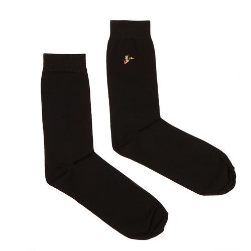 Носки ЗАПОРОЖЕЦ Дичь 86 Бит вышивка (Черный, O/S)