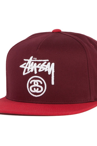 Бейсболка STUSSY Stock Lock SP17 Cap (Red, O/S)