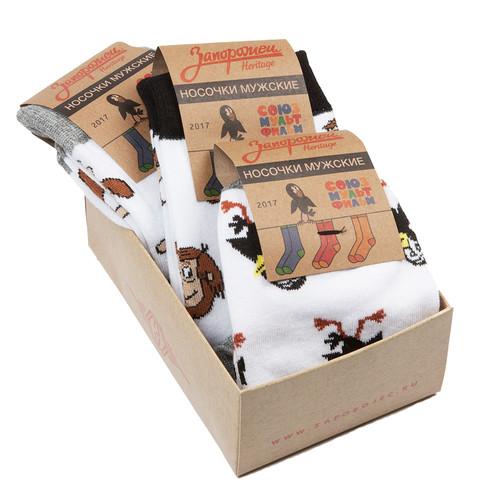 Носки ЗАПОРОЖЕЦ Комплект Простоквашино 5 (Белый-Белый-Белый-3 пары, O/S) цены онлайн