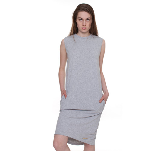 Платье ONE TWO Высота Геометрия (Серый Меланж, M)