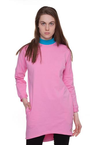 Платье ONE TWO Коралл Геометрия (Розовый, M)