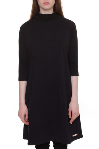 Платье ONE TWO Трапеция Геометрия (Черный, M)