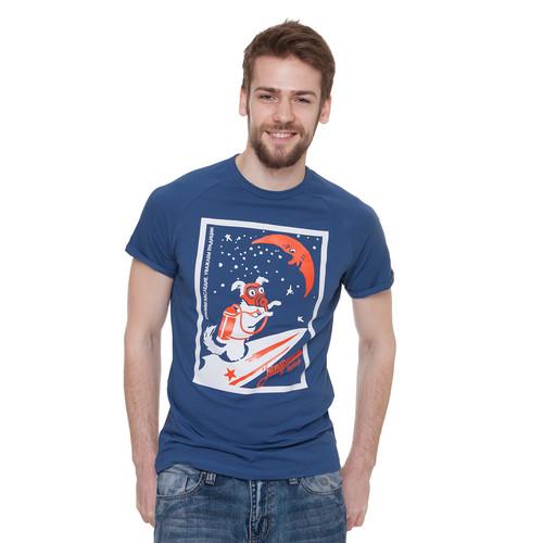 Футболка ЗАПОРОЖЕЦ Ракета (Синий, 2XL) футболка запорожец вязальная темно синий 2xl