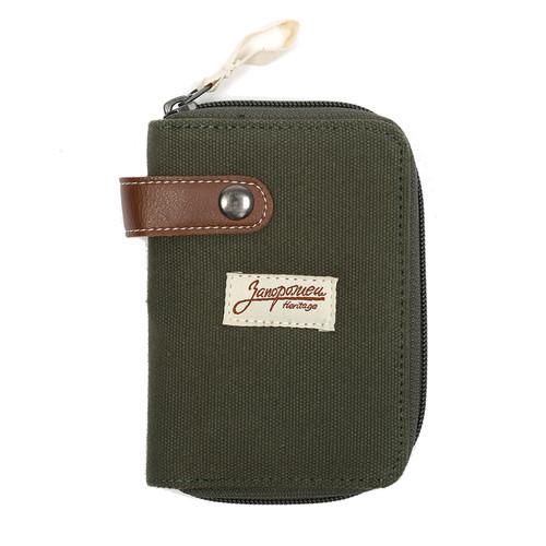 Кошелек ЗАПОРОЖЕЦ Zip Wallet SS17 (Green/Brown)