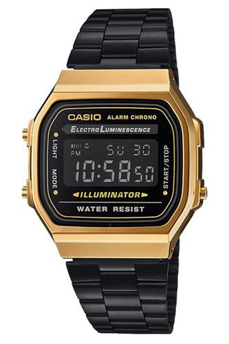 Часы CASIO A-168WEGB-1B (Золотой/Черный) цена