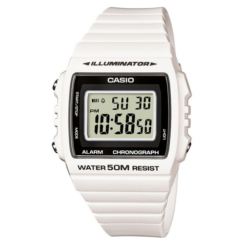 купить Часы CASIO W-215H-7A 3224 (Белый/Черный) по цене 2596 рублей