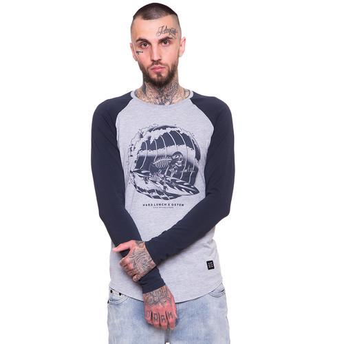 Лонгслив HARDLUNCH Pipe TS-M-21 (Light Grey Melange/Dark Grey, XL) футболка hardlunch travel f11 1 light grey melange 2xl