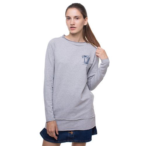 Толстовка HARDLUNCH Surf SS-W-14/1 женская (Light Grey, L) цена 2017