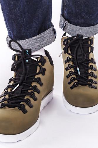 Ботинки NATIVE Fitzsimmons (Juice Green/Shell White, 6(W8)) ботинки native native na723amxna37 page href