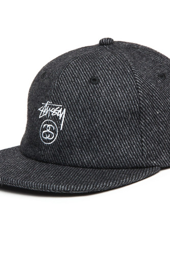 Бейсболка STUSSY Stock Lock Wool Strapback Cap (Charcoal, O/S) бейсболка stussy stock fa17 cap olive o s