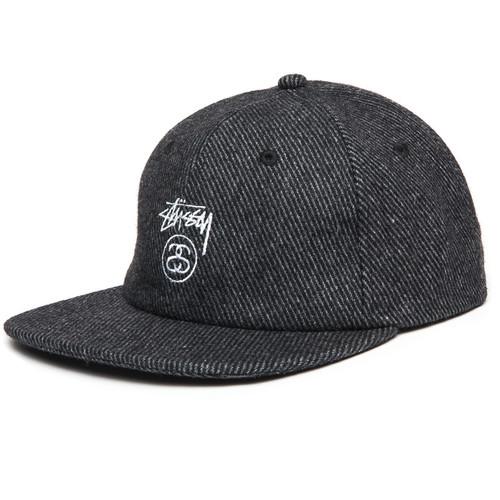 цена на Бейсболка STUSSY Stock Lock Wool Strapback Cap (Charcoal, O/S)