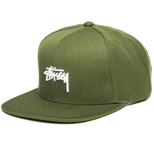 Бейсболка STUSSY Stock FA17 Cap (Olive, O/S) шапка stussy stock fa17 cuff beanie olive