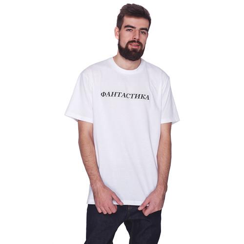 Футболка FICTION WEAR Лого (Белый, XL) футболка fiction wear черная черный xl