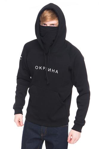 Толстовка CODEREDхОКРАИНА Hood (Черный, S)