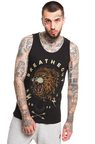 Майка BREATHE OUT Lion Head (Черный, S) майка breathe out hey you tank top белый l