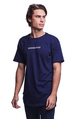 Футболка CROOKS & CASTLES Fleet Football T-Shirt Navy фото