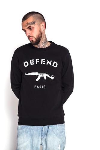 Фото - Толстовка DEFEND Paris Crew (Black, S) толстовка defend erika black l
