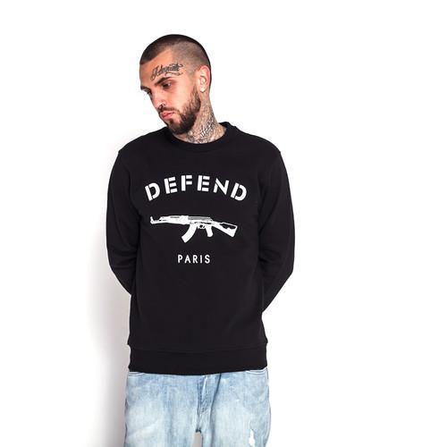Толстовка DEFEND Paris Crew (Black, S) толстовка defend paola black xs