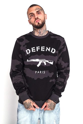 Фото - Толстовка DEFEND Paris Crew Camo (Black, S) толстовка defend erika black l