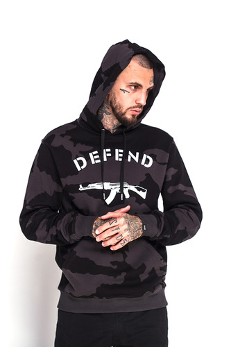 Фото - Толстовка DEFEND Paris Hood Camo (Black, S) толстовка defend erika black l