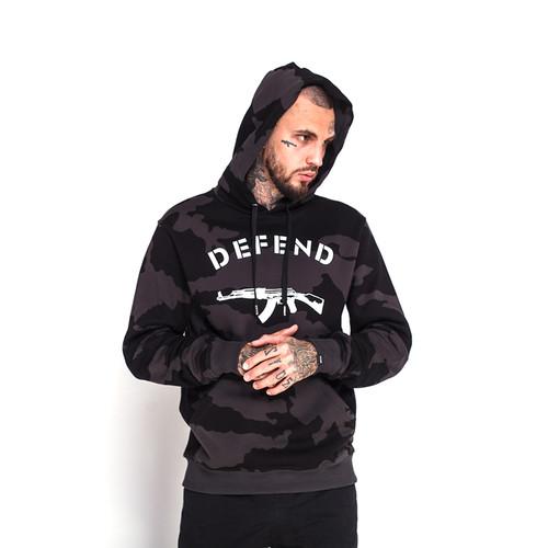 Толстовка DEFEND Paris Hood Camo (Black, S) толстовка defend paola black xs