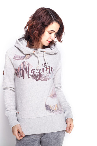 Толстовка MAZINE Lakewood Hoody (Light Grey Melange/Floating Feath, L) толстовка mazine tacoma light batwing hoody женская grey melange berry melange m