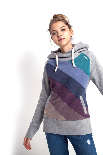 Толстовка MAZINE Tasty Hoody (Grey Melange/Multi Color, L) толстовка mazine tacoma light batwing hoody женская grey melange berry melange m
