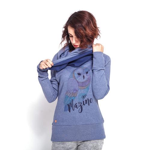 Свитер MAZINE Wilcannia Turtle Neck Sweater (Indigo/Owl, L)