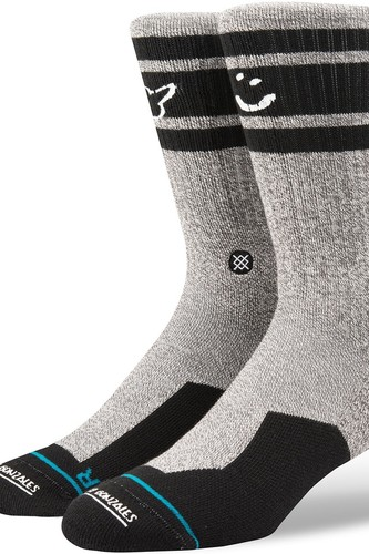 Носки STANCE SKATEBOARDING SMILEY (Black/Grey) носки низкие stance athletic fusion richter low grey