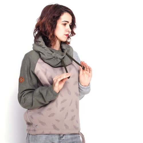 Толстовка MAZINE Eulo Batwing Hoody (Olive Melange/Taupe/Feathers, L) толстовка mazine morden hoody black melange xl