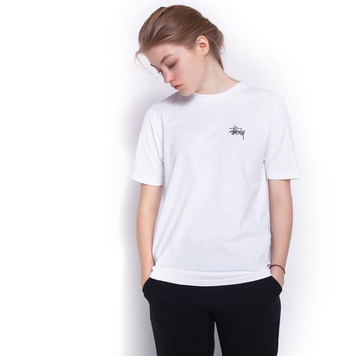 Футболка STUSSY Basic Stussy Tee женская (White, L) цены онлайн