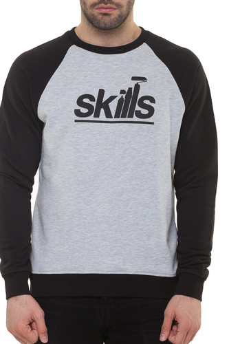 Толстовка SKILLS Writer (Grey Melange/Black, XL)