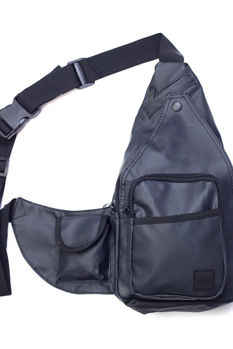 Сумка URBAN CLASSICS Multi Pocket Shoulder Bag (Black/Black) цена и фото