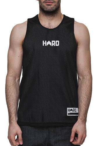 Майка HARD Sleeveless (Black/White-0107, L)