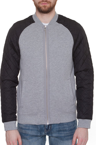 Куртка URBAN CLASSICS Diamond Nylon Sweatjacket (Grey/Black, S) цена 2017