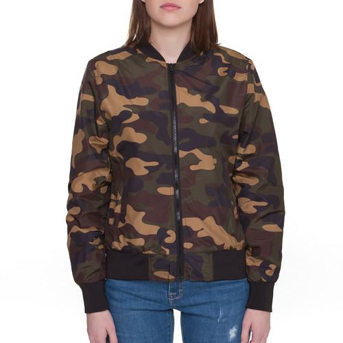 Куртка URBAN CLASSICS Ladies Light Bomber Jacket Camo женская (Wood Camo, L)