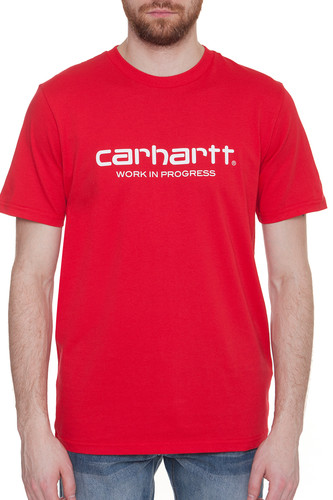 Фото - Футболка CARHARTT S/S Wip Script T-Shirt (Chili/White, 2XL) футболка carhartt s s college t shirt black white m