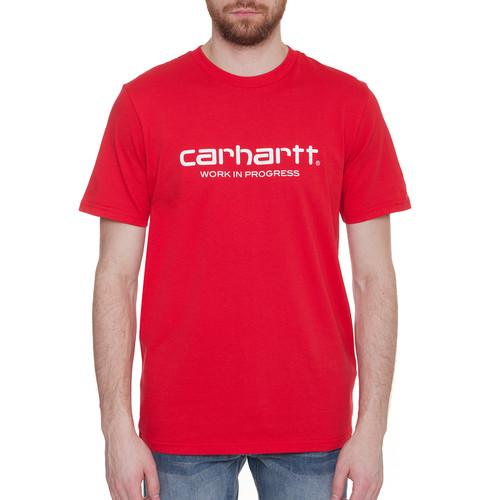 Футболка CARHARTT S/S Wip Script T-Shirt (Chili/White, 2XL) цена