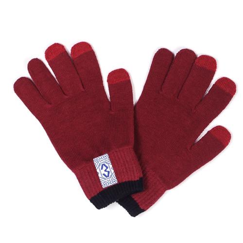 Перчатки ЗАПОРОЖЕЦ Uzor (Dk.Bordeaux, O/S)
