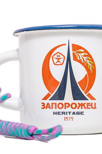 Кружка ЗАПОРОЖЕЦ Запорожец 1979 (Белый/Оранжевый)