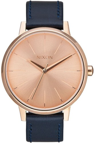Часы NIXON Kensington Leather (ROSE GOLD/NAVY) кварцевые часы женские nixon bullet gold lavender