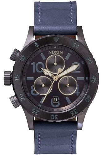 цены Часы NIXON 38-20 CHRONO LEATHER (All Indigo/Natural)