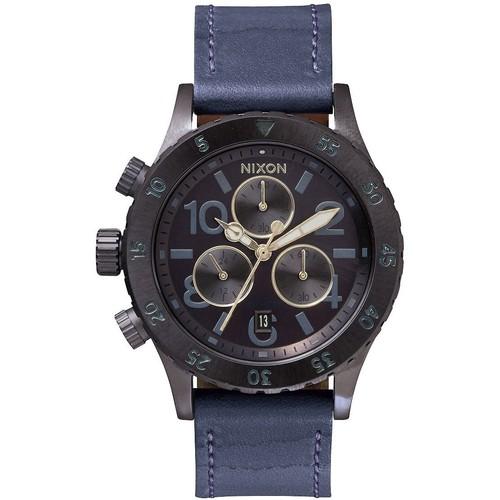 Часы NIXON 38-20 CHRONO LEATHER (All Indigo/Natural) недорго, оригинальная цена