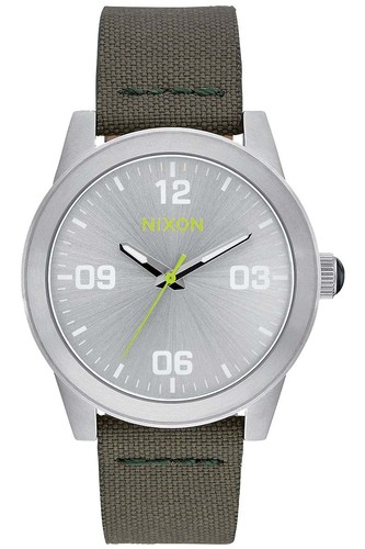 Часы NIXON G.I. NYLON (SILVER/SURPLUS)