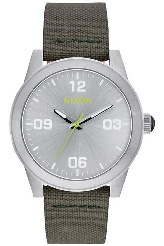 Часы NIXON G.I. NYLON (SILVER/SURPLUS) часы nixon newton digital pink