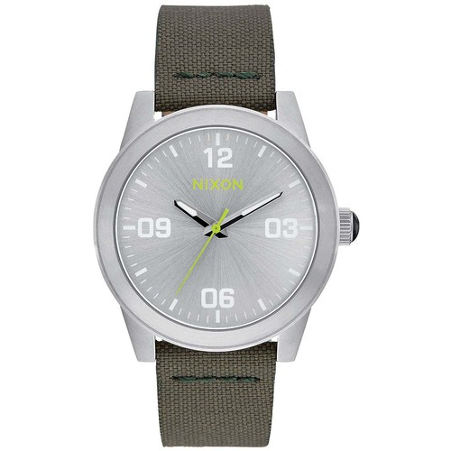 Часы NIXON G.I. NYLON (SILVER/SURPLUS) nixon sentry ss