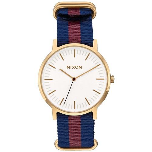 Часы NIXON PORTER NYLON (GOLD/WHITE/RED)